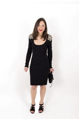 Vestido con adornos negro de Frankie Morello