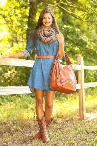 Como combinar un vestido azul verde