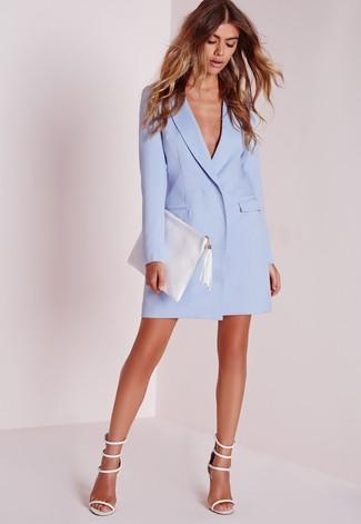 Que zapatos usar con vestido azul celeste