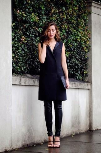 08eb6d1dba1 ... Look de moda  Vestido de esmoquin negro