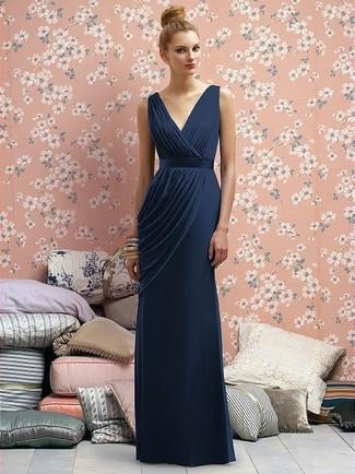 Vestido De Noche Azul Marino De Dsquared2 1416 Farfetch