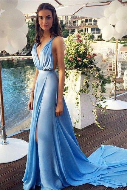Vestido azul celeste outfit