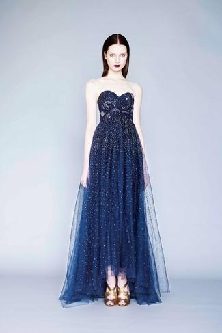 Cómo Combinar Un Vestido De Noche Azul Marino En Verano 2020