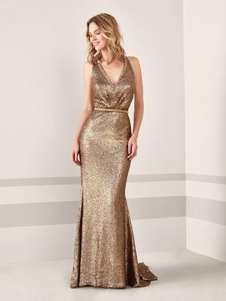 Cómo Combinar Un Vestido De Noche En Amarillo Verdoso 37