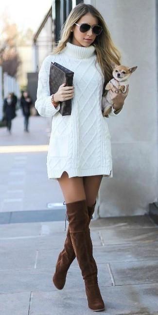 Vestido jersey de punto blanco de BB Dakota  dónde comprar y cómo ... 93b2617ba47e