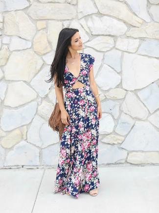 Look vestido floral azul