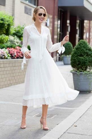 Look vestido blanco midi