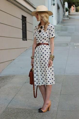 Vestido topos blanco