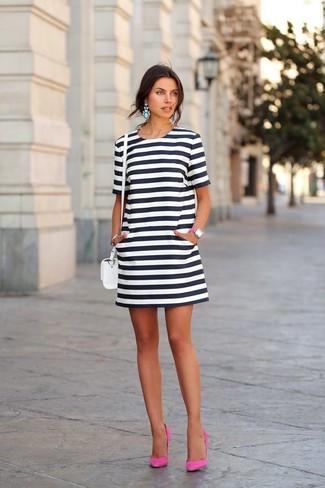 Vestidos de rayas negras con blanco