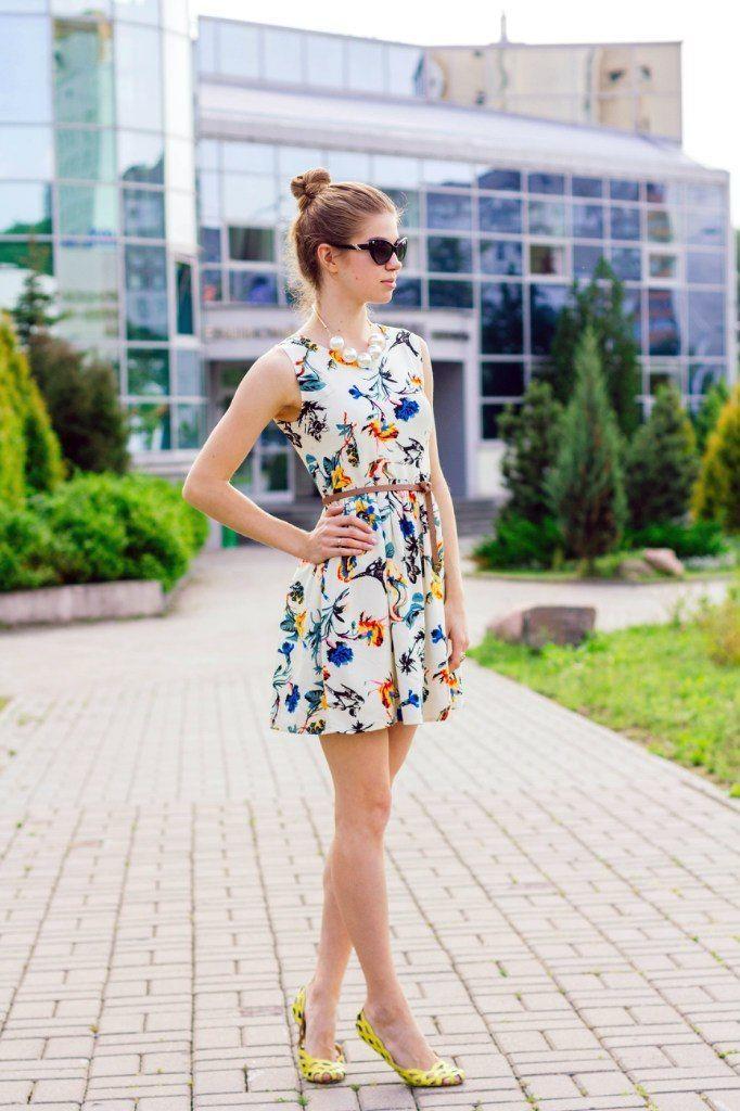 Zapatos para vestido blanco con flores