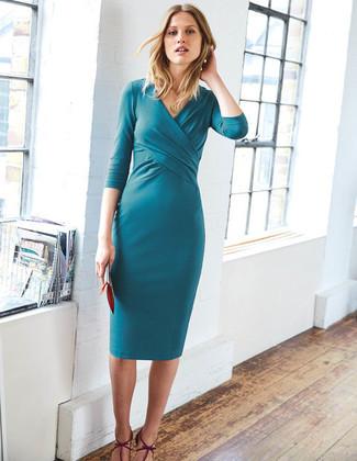 Con que combinar un vestido verde azulado