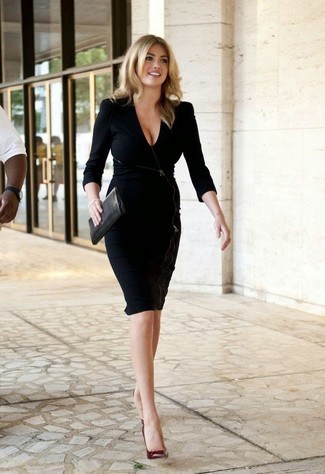 Looks vestido cuero negro
