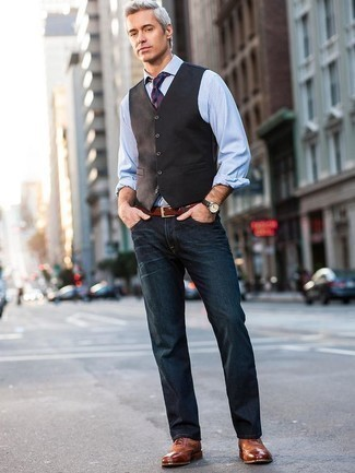 How to Wear a Tobacco Leather Belt For Men: For seriously stylish menswear style without the need to sacrifice on practicality, we love this pairing of a dark brown waistcoat and a tobacco leather belt. Tobacco leather brogues will inject a hint of polish into an otherwise too-common outfit.