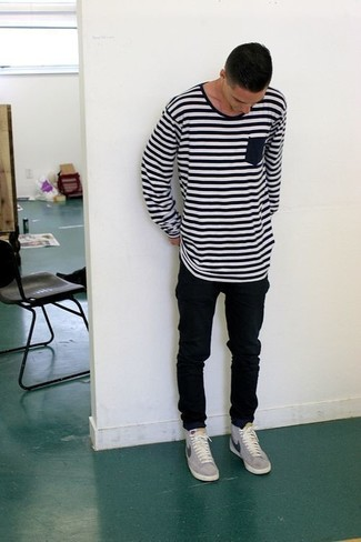 Horizontal Striped T Shirt