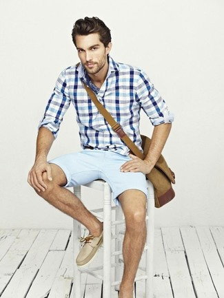 What To Wear With Baby Blue Shorts