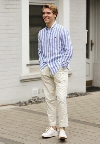 femminile Lalbergo Estrazione  Nautica Shirt Long Sleeved Wrinkle Resistant Striped Shirt, $55 | Macy's |  Lookastic