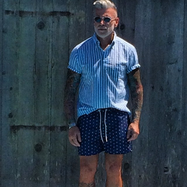 How to Wear Blue Polka Dot Shorts (3 looks) | Men's Fashion