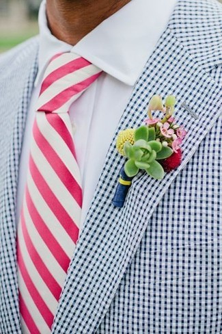 How To Wear A Pink Vertical Striped Tie 2 Looks Men 39 S