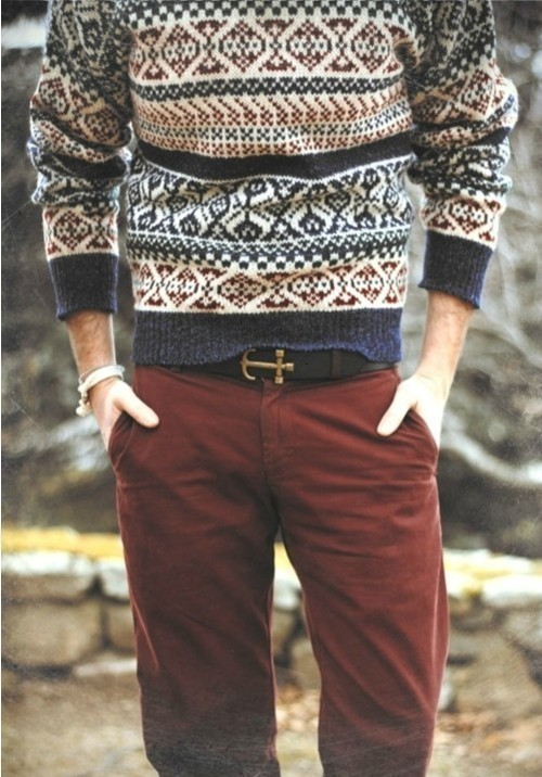 How to Wear a White and Navy Fair Isle Crew-neck Sweater (6 looks ...