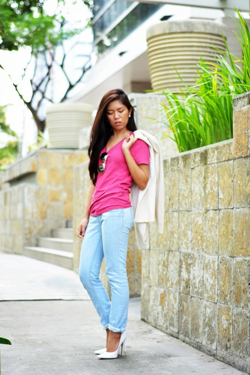 How to Wear a Hot Pink T-shirt (86 looks)   Women's Fashion