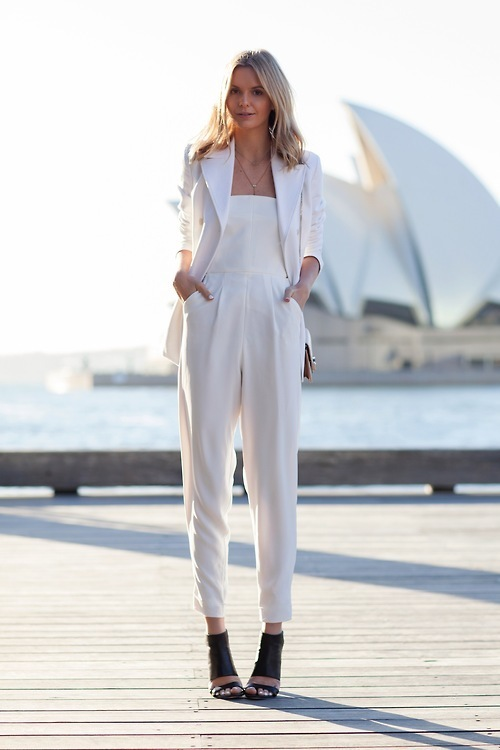 How to Wear a White Jumpsuit (65 looks) | Women's Fashion