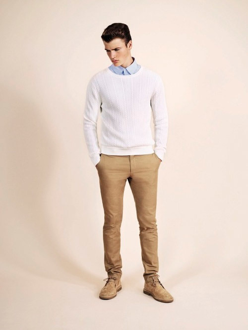 How to Wear a White Cable Sweater (22 looks) | Men's Fashion