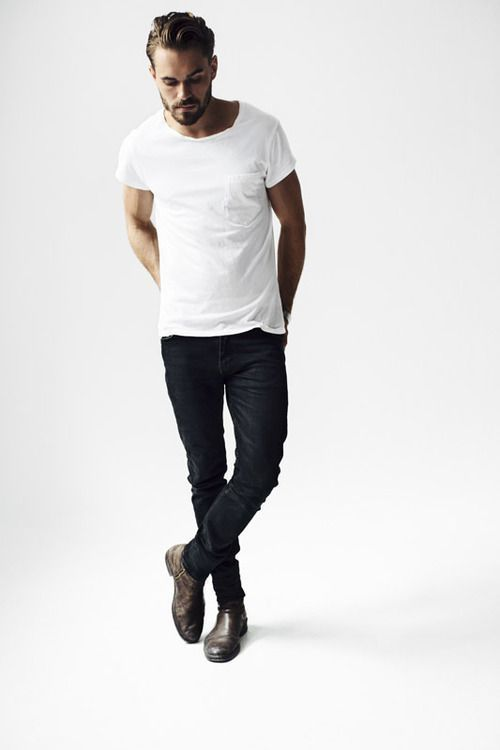 How To Wear Black Jeans With Tobacco Leather Boots | Men's Fashion