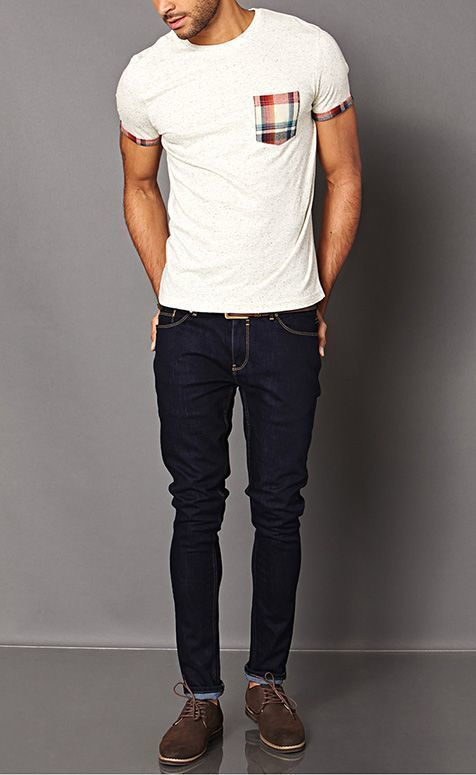 Suede Derby Shoes With Jeans