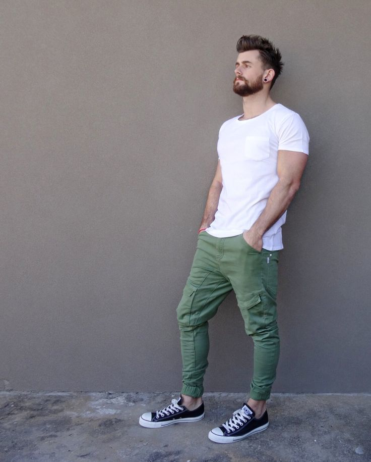 How to Wear Olive Cargo Pants (37 looks) | Men's Fashion