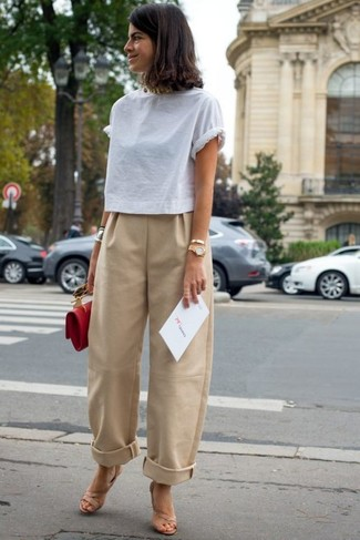 How to Wear Tan Wide Leg Pants (22 looks) | Women's Fashion