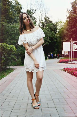 de3f10cb04ea5 ... Women s White Crochet Off Shoulder Dress