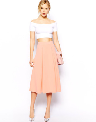 Tiered Organza Midi Skirt