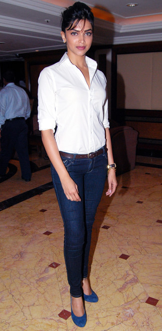 de83e14ec2 Deepika Padukone. Deepika Padukone wearing White Dress Shirt ...