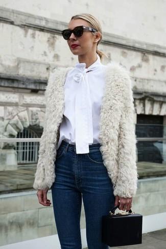 Imitated Fur Pure Color Short Coat