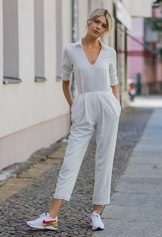 sneakers with jumpsuit