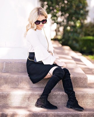 f69c187ab New Look Petite Black Crepe A Line Mini Skirt, $19 | New Look ...