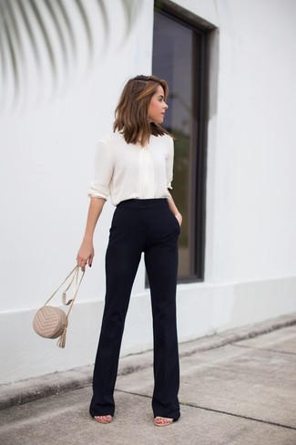 Flared Cropped Cady Pants