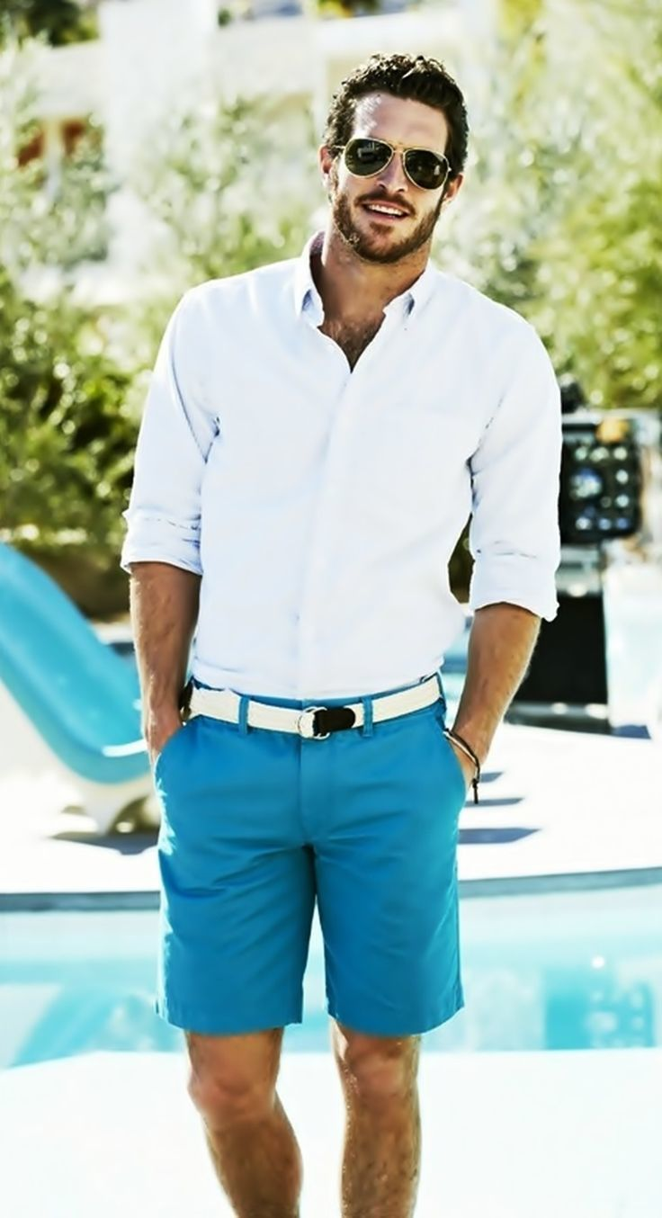 Aquamarine Shorts | Men's Fashion