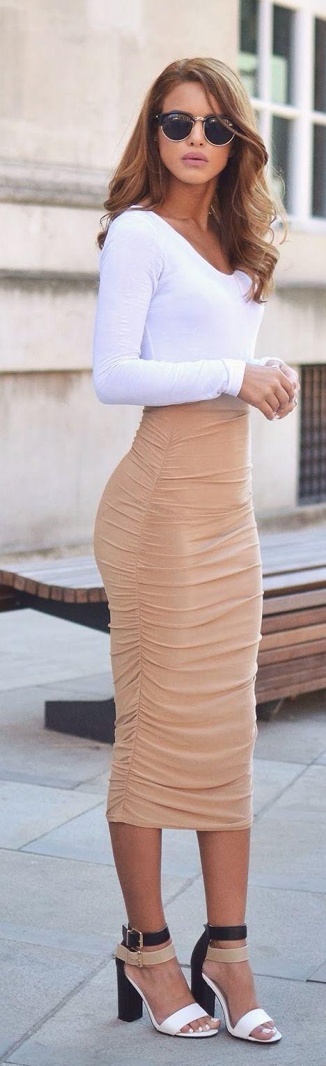 Women 39 S White Long Sleeve T Shirt Beige Women 39 S Fashion