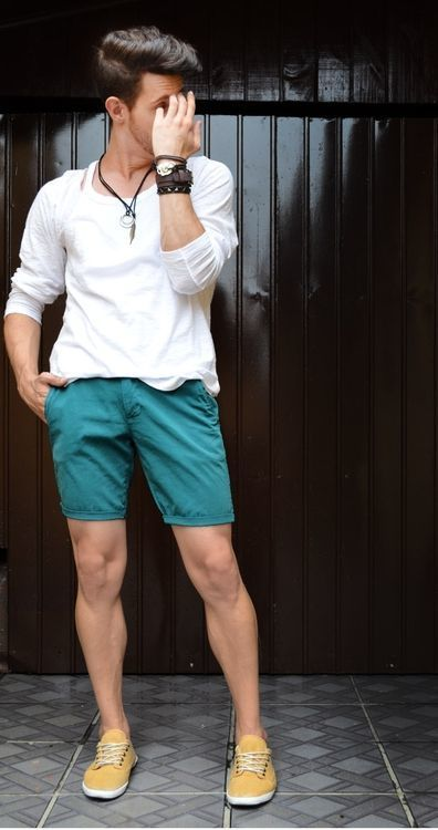 Teal Shorts Mens Hardon Clothes