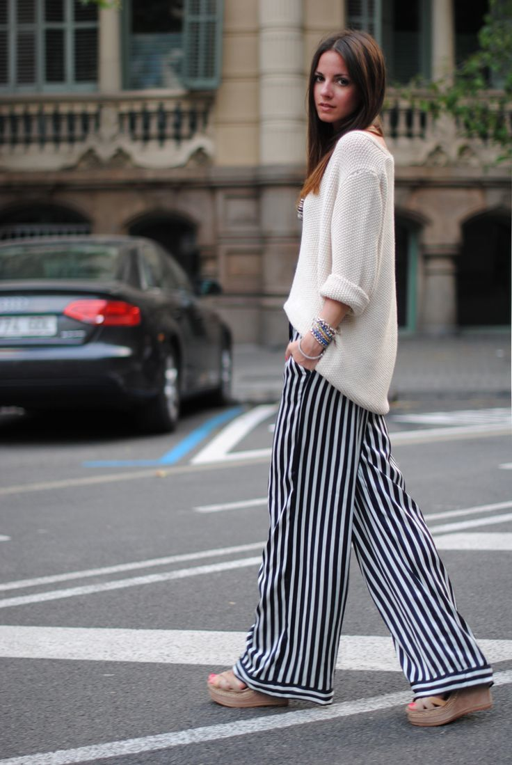 black and white wide leg pants | Gommap Blog