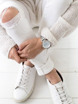 Contrast Lace Sneakers