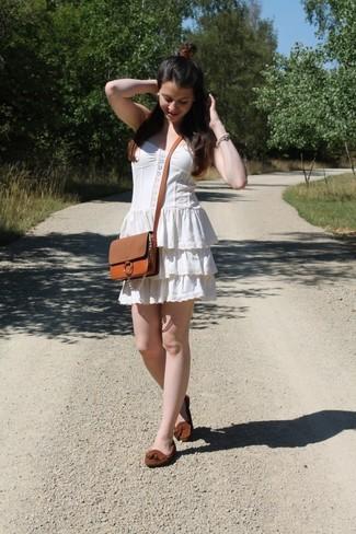 Olive Oak Peasant Mini Dress