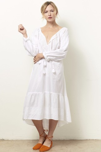 5ddecf3ff38 ... Women s White Peasant Dress