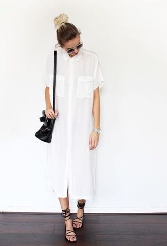 Fisher Project Long Sleeveless Shirtdress