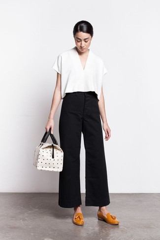 Pleated Flared Trousers