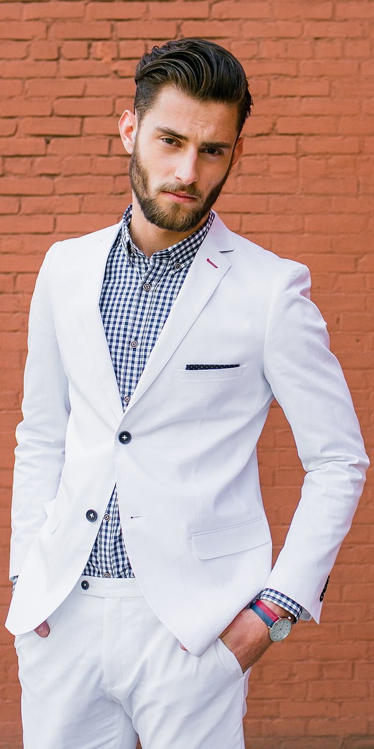 How to Wear a White Suit (18 looks) | Men\'s Fashion
