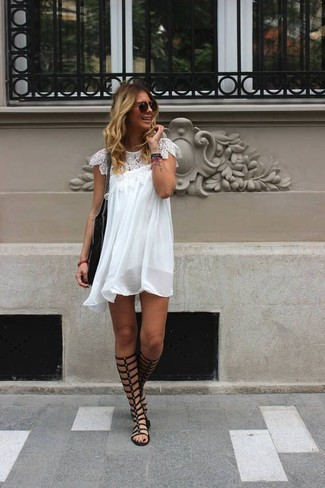 270da46ea1dd How to Wear Black Leather Knee High Gladiator Sandals (36 looks ...