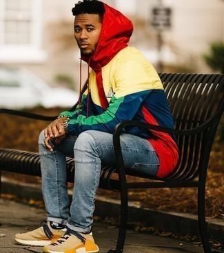Striped Hooded Jacket