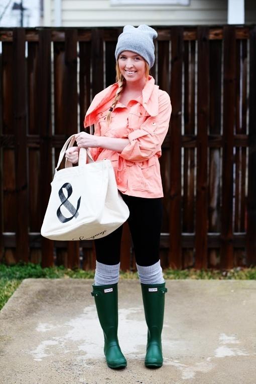 How to Wear Dark Green Rain Boots (10 looks) | Women's Fashion
